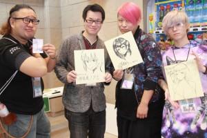 漫画家の皆さん(左から、あきは@さん、伊佐美ノゾミさん、眠井ねるさん、桜湯ハルさん)